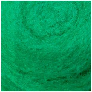 N. Zelandijos vilnos karšinys 50g. ± 2,5g. Spalva - signalinė žalia, 27 - 32 mik.