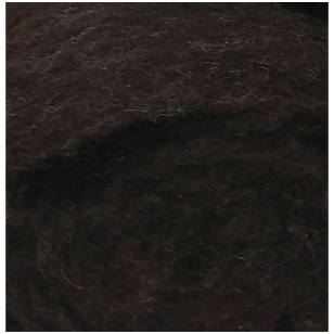 N. Zelandijos vilnos karšinys 50g. ± 2,5g. Spalva - tamsiai rudas melanžas, 27 - 32 mik.