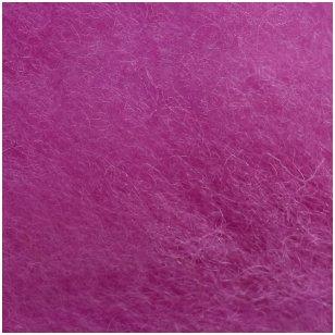 N. Zelandijos vilnos karšinys 50g. ± 2,5g. Spalva - viržių violetinė, 27 - 32 mik.