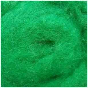 N. Zelandijos vilnos karšinys 50g. ± 2,5g. Spalva - žolės žalia, 27 - 32 mik.