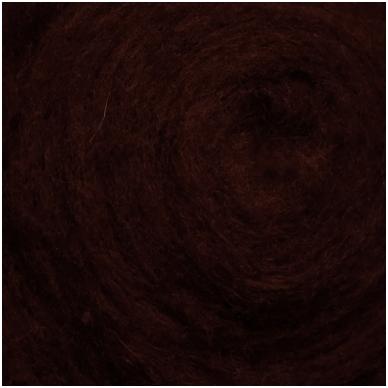 N. Zelandijos vilnos karšinys 50g. ± 2,5g. Spalva - baklažanas, 27 - 32 mik. 2