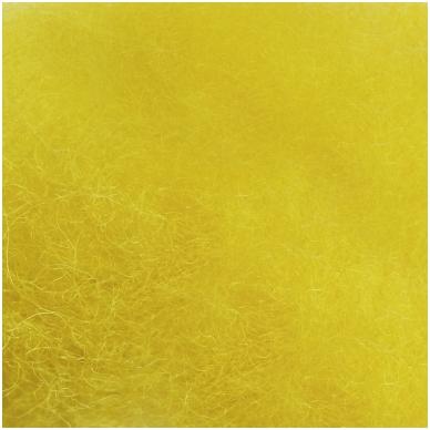 New Zealand carded wool 50g. ± 2,5g. Color - lemon, 27 - 32 mik. 2