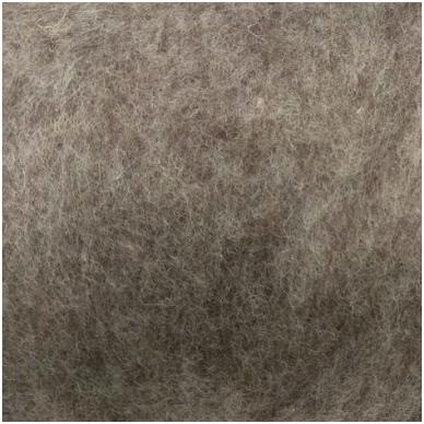 New Zealand carded wool 50g. ± 2,5g. Color - brown melange, 27 - 32 mik.