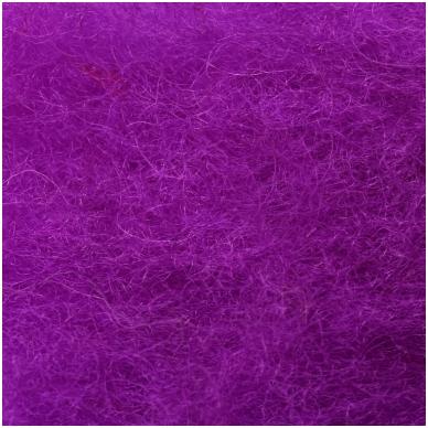 N. Zelandijos vilnos karšinys 50g. ± 2,5g. Spalva - signalinė violetinė, 27 - 32 mik. 2