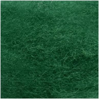 N. Zelandijos vilnos karšinys 50g. ± 2,5g. Spalva - žalia, 27 - 32 mik. 2