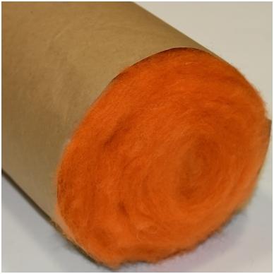 N. Zelandijos vilnos karšinys 50g. ± 2,5g. Spalva - oranžinė, 27 - 32 mik. 3