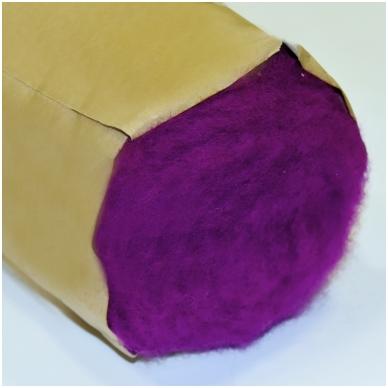 N. Zelandijos vilnos karšinys 50g. ± 2,5g. Spalva - signalinė violetinė, 27 - 32 mik. 3