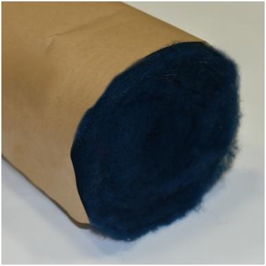 N. Zelandijos vilnos karšinys 50g. ± 2,5g. Spalva - Žalsvai mėlyna, 27 - 32 mik. 3