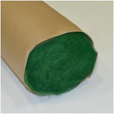 N. Zelandijos vilnos karšinys 50g. ± 2,5g. Spalva - žolės žalia, 27 - 32 mik. 3