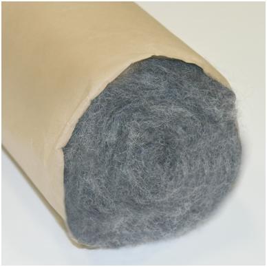 N. Zelandijos vilnos karšinys 50g. ± 2,5g. Spalva - pilkas melanžas, 27 - 32 mik. 3