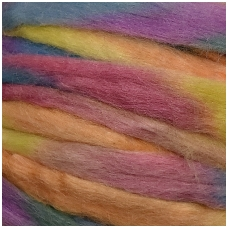 Merino wool multicolored space tops  50g. ± 2,5g. Color -   pastel pink, orange, blue,yellow, 20,1 - 23 mic.