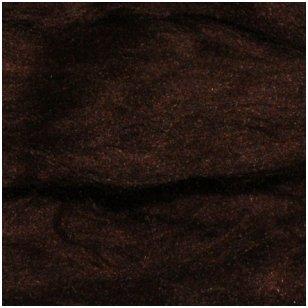 Prekės kodas AG8011. Akrilo gijų pluoštas veltų gaminių dekoravimui. Spalva- ruda. Pakuotėje 10 gramų.