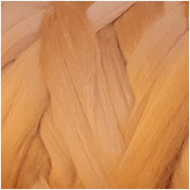 Super fine wool tops 50g. ± 2,5g. Color - cinnamon, 15,6 - 18,5 mik.