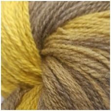 Wool yarn hank 150g. ± 5g. Color - yellow, light yellow, brown. 100% wool.