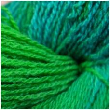 Wool yarn hank 150g. ± 5g. Color - light blue, green. 100% wool.