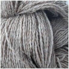 Wool yarn hank 150g. ± 5g. Color - light gray melange. 100% wool.
