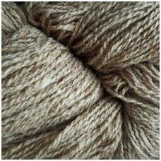 Wool yarn hank 150g. ± 5g. Color - light brown melange.100% wool.