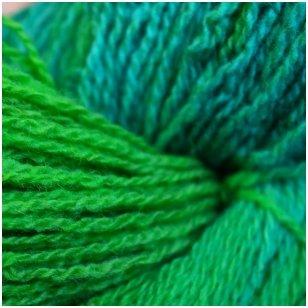 Vilnonių siūlų matkelis 150g. ± 5%. Spalva - žydra, žalia. Sudėtis - 100% vilna.