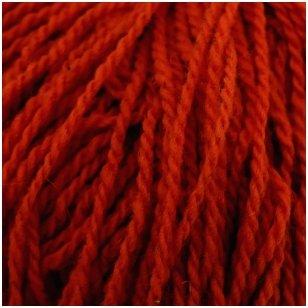 Vilnonių siūlų matkelis 150g. ± 5g. Spalva - raudona. Sudėtis - 100% vilna.
