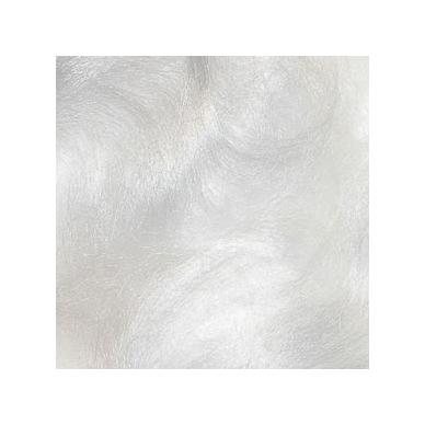 Viskozės pluoštas veltinio dekoravimui. Spalva - balta (blizgi). Pakuotės svoris 10gr.