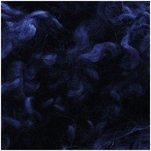 Wensleydale avių vilnos garbanėlės 10 gr. Spalva - tamsi mėlyna.