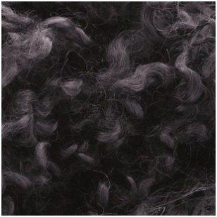 Wensleydale avių vilnos garbanėlės 10 gr. Spalva - tamsi pilka.