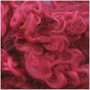 Wensleydale avių vilnos garbanėlės 10 gr. Spalva - viržių violetinė.