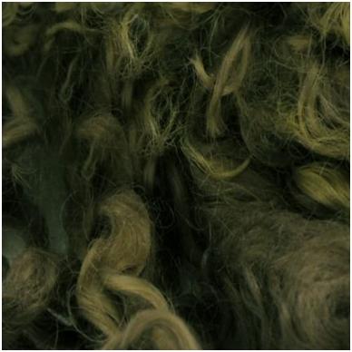 Wensleydale avių vilnos garbanėlės 10 gr. Spalva - samaninė.